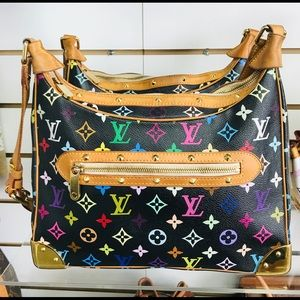 LOUIS VUITTON BOULOGNE NOIR MULTICOLOR VGUC